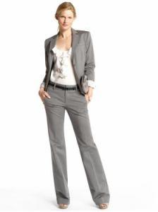 Banana Republic Sleek suit jacket & Martin sleek straight pant