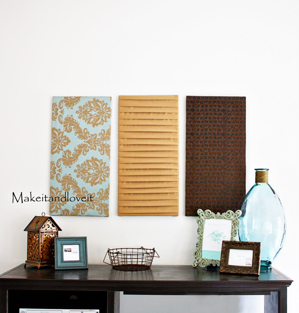 How-to: Fabric panel wall art…