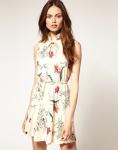 ASOS Mini Dress with Vintage Floral Print