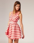 Boutique by Jaeger Dress in Organdy Stripe